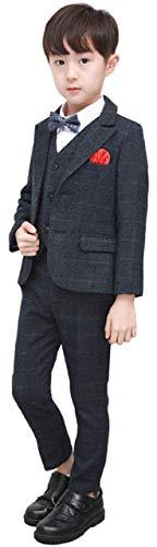 [ベベック] Bebek 男の子 フォーマル スーツ キッズスーツ 6点セット ジャケット ベスト シャツ 蝶ネクタイ パンツ ズボン スカーフ セット おしゃれ かっこいい 結婚式 七五三 入園式 卒園式 入学式 卒業式 記念撮影 礼服 スリムタイプ 男