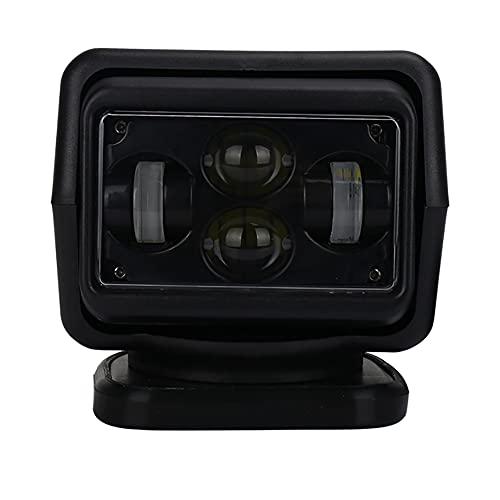 WEIHO Foco Marino 12V 60W 360 Rotación Impermeable Camión de Control Remoto Proyector Luz de Viaje Lámpara Duradera Durable para yate, Guardacostas, policía Marina, Barcos, etc