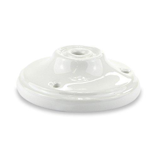 Lampen Baldachin Antik Porzellan/Keramik - Abdeckung für Hängelampen ohne Tunnel - indoor und outdoor