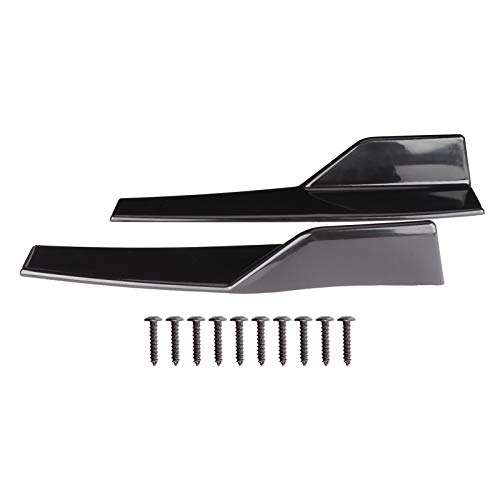 EBTOOLS Minigonne Laterali Universali per Auto Coppia Minigonne Laterali Universali Rocker Splitter Side Winglet Wing Diffuser Kit Carrozzeria Auto Nero Lucido 17,7x3,3 Pollici