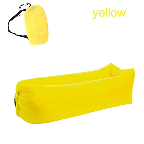 Clkdasjd Outdoor Camping Bett Lazy Bag aufblasbares Bett Air Sofa Strand Matte gelb
