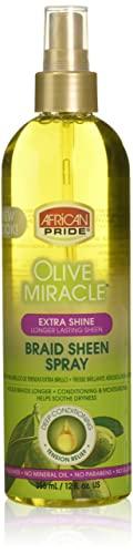 African Pride Braid Sheen Extra Spray, 12 Ounce