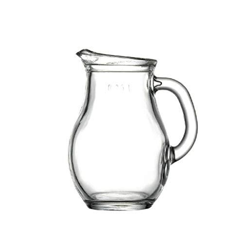 caihuashopping Salsera de Porcelana Creativa de Cristal Claro de Creamer, Pitcher/té Sharing Pitcher/Salsa Pitcher/Leche café Creamer, Jug for la Cocina Salsera (Size : S)
