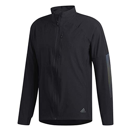 adidas Herren Rise Up n Run Trainingsjacke, Black, L