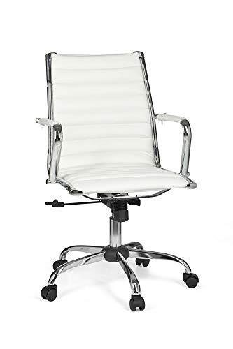 FineBuy Bürostuhl Genua 2 Bezug Kunst-Leder Design Schreibtischstuhl höhenverstellbar X-XL 110 kg Chefsessel ergonomisch Drehstuhl mit Armlehnen Rücken-Lehne Wippfunktion verstellbar Schalensitz