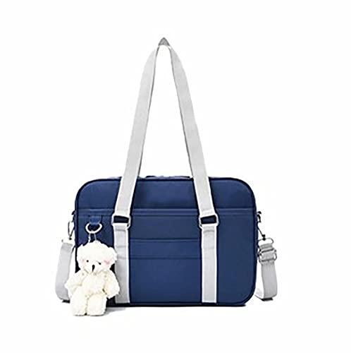 Top WHY Borse a tracolla scuola borsa in stile giapponese Borse a tracolla borsa a tracolla Kawaii Little Bear JK per ragazze