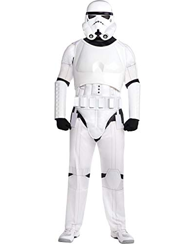 Costumes USA Stormtrooper Halloween Costume for Men, Star Wars, Standard Size (40-42), Includes Mask, Jumpsuit and More