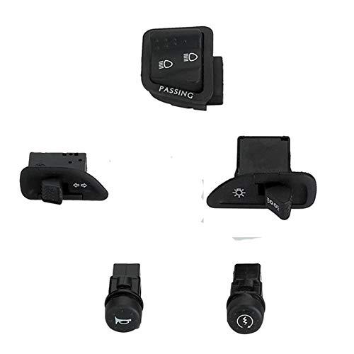 Langrms 7/8 pulgadas, 22 mm, nivel de frenado izquierdo, botón de montaje, sonido alto, luz de cruce, interruptor de arranque eléctrico