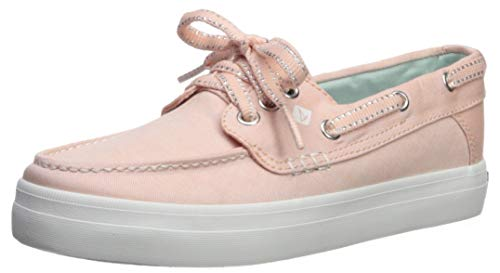 Girls Pink Canvas Boat Shoes