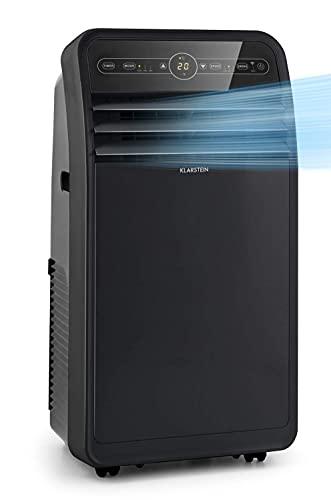 KLARSTEIN Metrobreeze New York Smart - climatiseur mobile, déshumidificateur, ventilateur, WiFi: contrôle par application, CEE A, 360 m³/h, jusqu'à 59 m², 12000 BTU/3,5 kW - noir