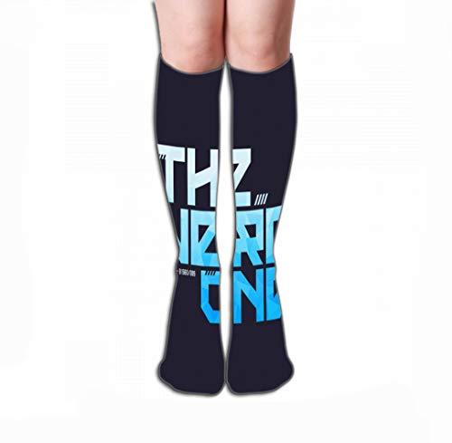 GHEDPO Hohe Socken Print Women's Men's Knee High Socks Athletic Over-The-Calf Tube 19.7