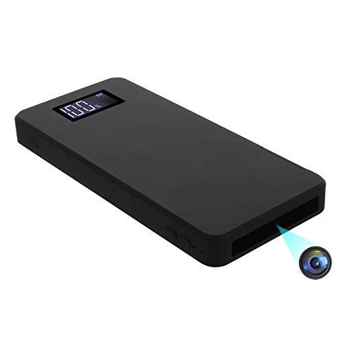 Mini-Kamera 1080P Tragbare Kleine Überwachungskameras 10000mAh Powerbank Kamera mit Nachtsicht Bewegungserkennung Nanny-Videokamera Schwerkraftsensor Loop-Aufnahme (32 GB integriert)
