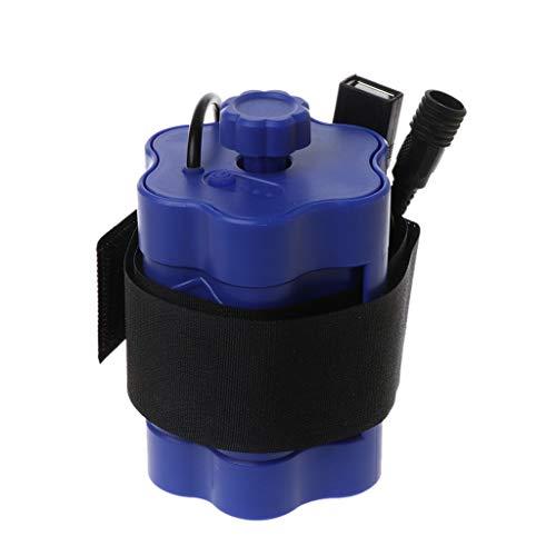Ydhsja - Lote de 6 soportes de caja de almacenamiento de batería 18650 de 5 V y 12 V para bicicleta LED, luz USB, cargador para smartphone