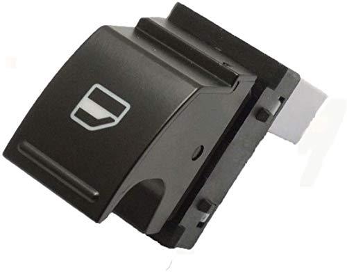 Botón de interruptor eléctrico para ventana de coche, color negro, blanco, para Volkswagen, ajuste para Passat / ajuste para JATTA/Fit para presentar/Fit para Tiguan (negro)