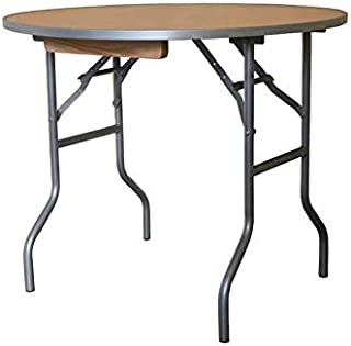 3' Foot Diameter Round Solid Birch Wood Folding Table - Heavy Duty 36