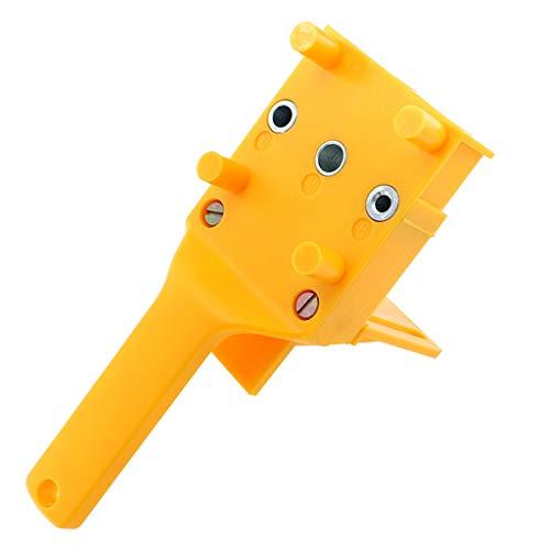 Positionierer Loch Jig Kit, 3 Pins 6/8/10mm Bit Winkelantriebsadapter für Holzbearbeitung Winkel Bohren Löcher Guide Holz Werkzeuge Doweling Holzbearbeitung Stellungsregler