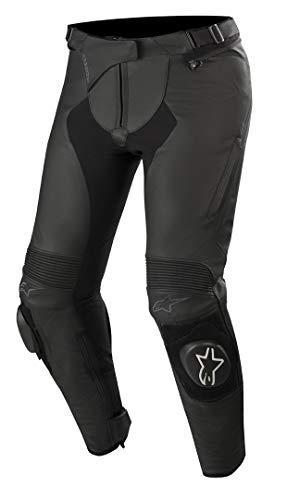 Alpinestars Motorradhose Stella Missile V2 Leather Pants Black, Schwarz, 40