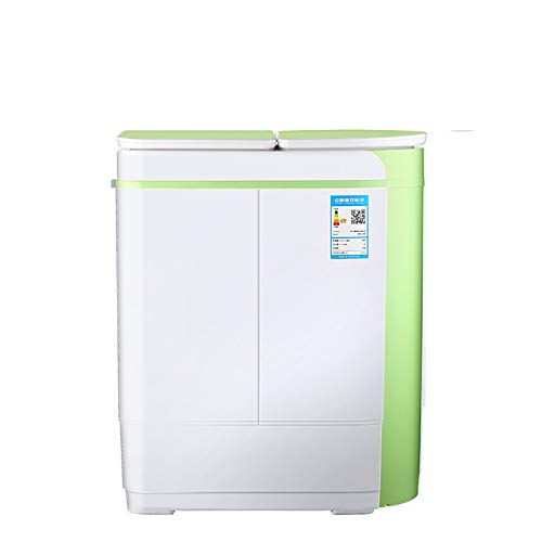 ZnMig Light Washing Machine Mini Washing Machine Double Bucket Small Double Cylinder Small Baby with Dehydration Underwear Cleaning (Color : Green, Size : 33x55x66cm)