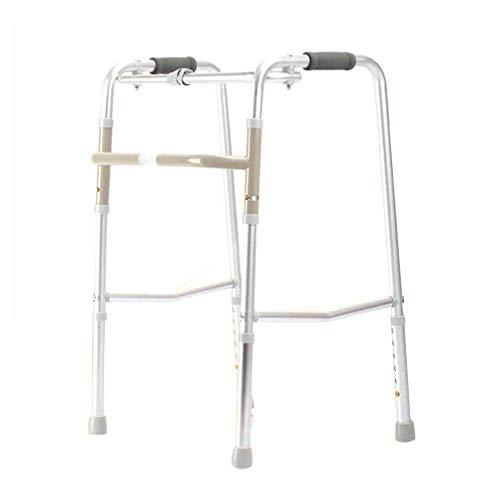 Walker, Apoyabrazos De Marco Zimmer Plegable De Aluminio Ligero para Caminar - Soporte De Bastón Portátil De Altura Ajustable para Personas Mayores, Geriátrico, Bariátrico