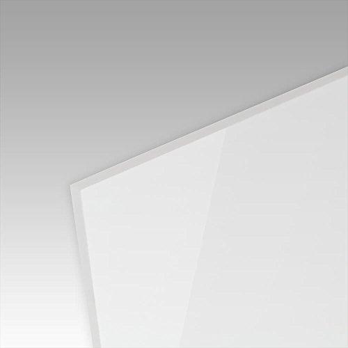 PLEXIGLAS® kratzfest weiß gedeckt WN297 geeignet als Küchenrückwand, edle Tischauflage, Sichtschutz: Maße 50 x 25 cm, Stärke: 3 mm