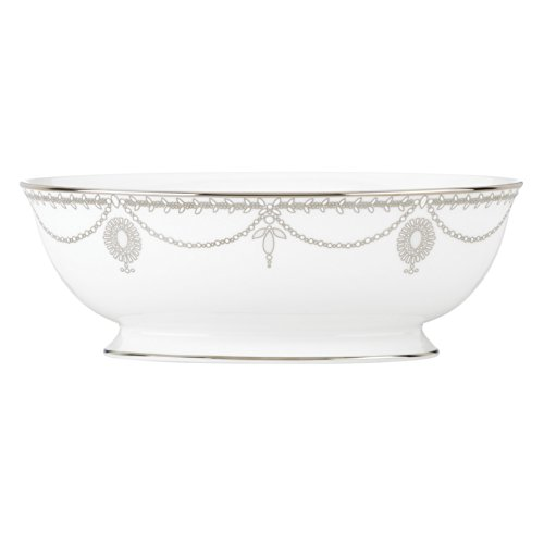 Lenox 849557 Empire Pearl Open Vegetable Bowl, 2.2 LB, White
