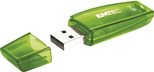 Emtec ECMMD64G2C410 - Clé USB - 2.0 - Série Runners - C410 Color Mix - 64 Go - transparente Vert avec capuchon