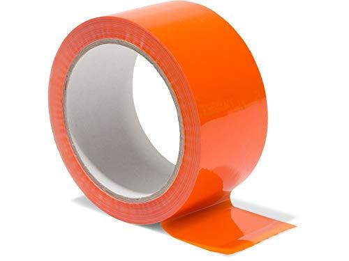 Modulor Verpackungsband, farbiges Klebeband aus Polypropylen, leise abrollendes Paketband mit Acrylatkleber, Breite 5 cm x Länge 66 m, 48 µm dick, orange