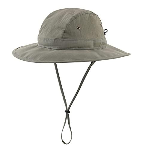 Home Prefer UPF 50+ Men's Sun Hat Wide Brim Fishing Hat Light Weight Safari Bucket Hat Army Green