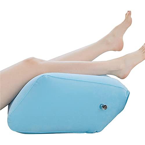 WKDZ Cuscino Gonfiabile per Le Gambe Panca Gonfiabile Portatile per favorire la circolazione sanguigna Morbido e Confortevole 0721