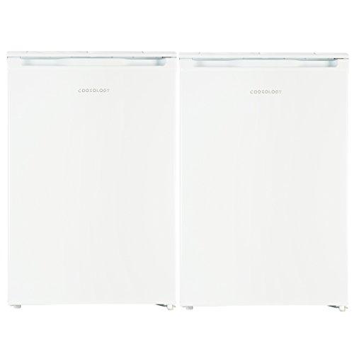 Cookology White 55cm Freestanding Side-by-Side Undercounter Fridge Freezer Pack