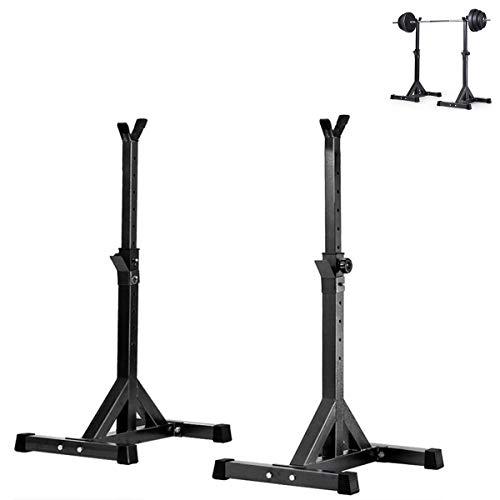 HT&PJ Soporte para sentadillas ajustable ideal para hombres y mujeres, para entrenar varios músculos en el gimnasio (negro)
