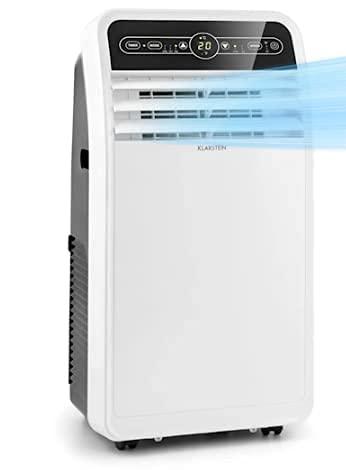 KLARSTEIN Metrobreeze New York Smart - Climatizzatore Portatile, 3in1: Climatizzatore/Deumidificatore/Ventilatore, Wi-Fi: AppControl, Classe A, 360 m³/h, fino a 59 m², 12000 BTU/3,5 kW, Bianco