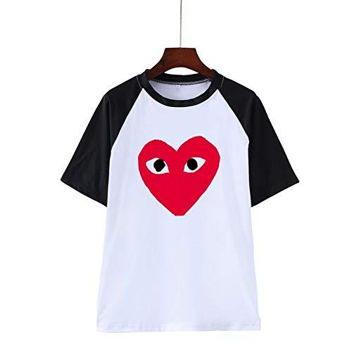 WWDDVH comme Les garçons Logo Clip Art Clipart T-Shirts Imprimer Hip Hop Couple Hommes Femmes T-Shirts Casual Tops Tee Shirt Col Rond
