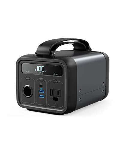 Anker Powerhouse 200, 213Wh/57600mAh Portable Rechargeable Generator Clean & Silent 110V AC Outlet/USB-C Power Delivery/USB/12V Car Outlets, for Fast Charging, Camping, Emergencies, CPAP, and More