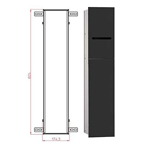 WC Modul emco asis 2.0 Anschlag rechts schwarz Wandcontainer Einbaurahmen