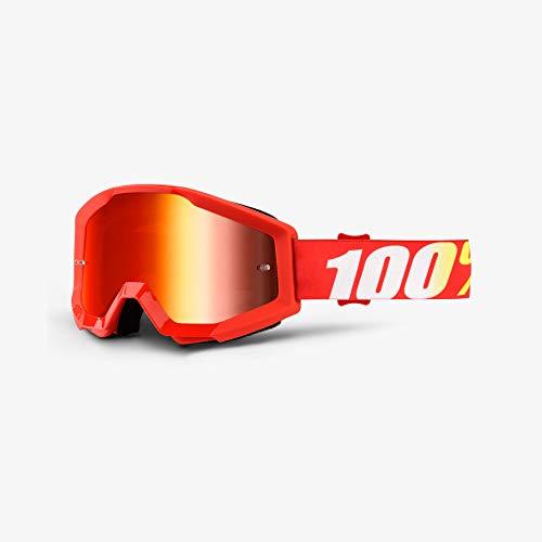 100%, Gafas de bicicleta Unisex adulto, Talla única, Rojo (Red/Red/White)