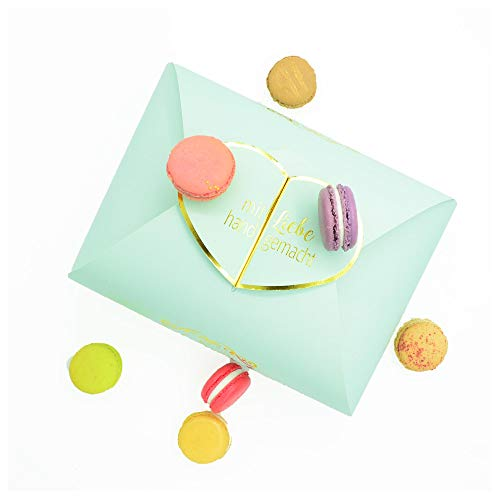 20 handgefertigte Macarons aus feinen Zutaten, direkt vom Hersteller
