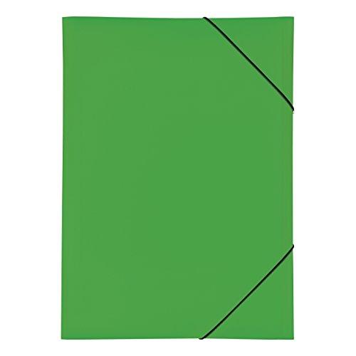 Pagna 21638-05 Gummizugmappe PP 3 Einschlagklappen, A3 grün