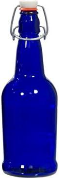 EZ Cap Bottles - 16 oz Qty Colorado Springs Mall Blue lowest price Top Swing 12 Cobalt
