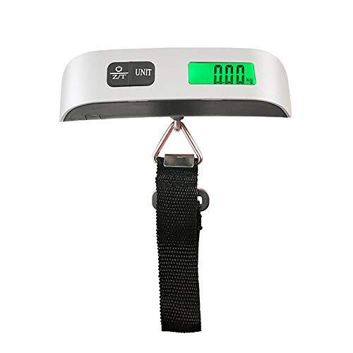 Báscula de equipaje LCD de 110 lb / 50 kg, maleta portátil digital electrónica, báscula de viaje, pesa bolsa de equipaje, báscula colgante, peso de equilibrio