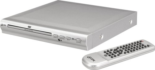 GPX D1816 High End 2 Channel DVD Player with Remote Control (Silver)