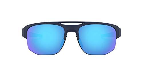 Oakley Men's OO9424 Mercenary Rectangular Sunglasses, Matte Navy/Prizm Sapphire Polarized, 70 mm