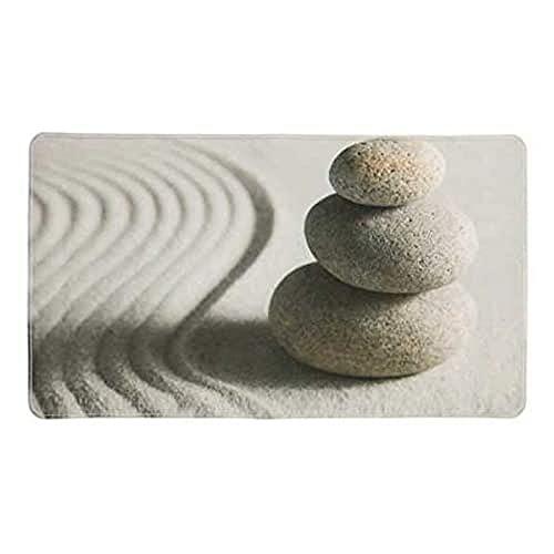 WENKO Wanneneinlage Sand and Stone - Antirutsch-Badewannenmatte mit Saugnäpfen, Kunststoff (TPR), 40 x 70 cm, Mehrfarbig