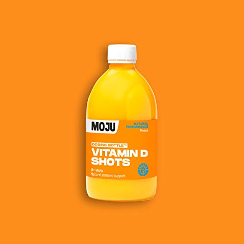 MOJU Vitamin D Dosing Bottle | Ginger, Orange, Vitamin D | Family Shot Pack | 6 x 500ml