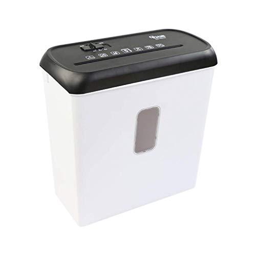 SCDFDJ Blatt Micro-Cut Heavy Duty Aktenvernichter, Zerstört CD/Kreditkarte/Staples, Weiss