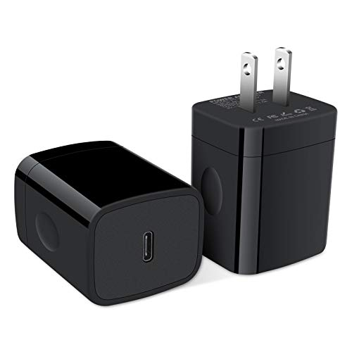 USB C Charger, 2Pack 20W Fast PD Wall Charger Plug Type C Charging Box Power Delivery Adapter Compatible with iPhone 11/11 Pro Max/SE/XR/X, Samsung Galaxy Note 20 Ultra S20 S10 Plus, Moto G8 G7 Power