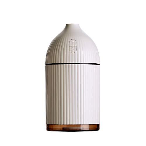 RUGU 300ML aromaterapia difusor USB humidificador ultrasónico de Vapor frío Fabricante Aroma humidificador purificador para el hogar Coche con luz LED,Amarillo