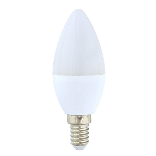 LightED Flama LED-gloeilamp, 50 K, E14, 6 W, wit, 37 x 99 mm