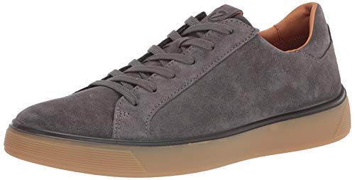 ECCO mens Street Tray Classic Sneaker, Magnet Suede, 11-11.5 US