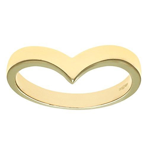 Citerna 9 ct Yellow Gold Wish Bone Ring - Size R